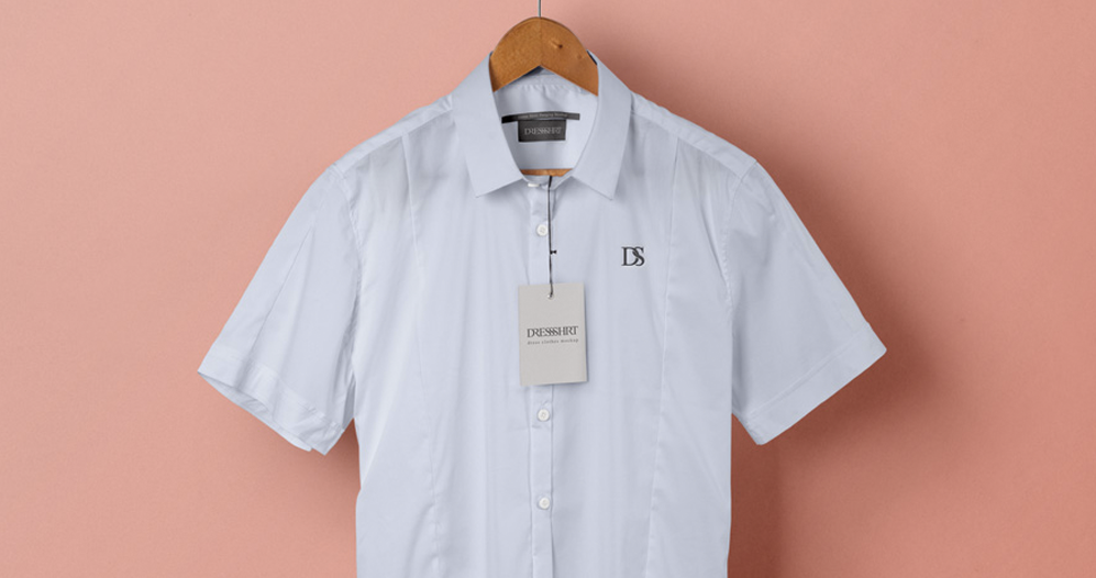 Short Sleeve Dress Shirt Design Mockup
