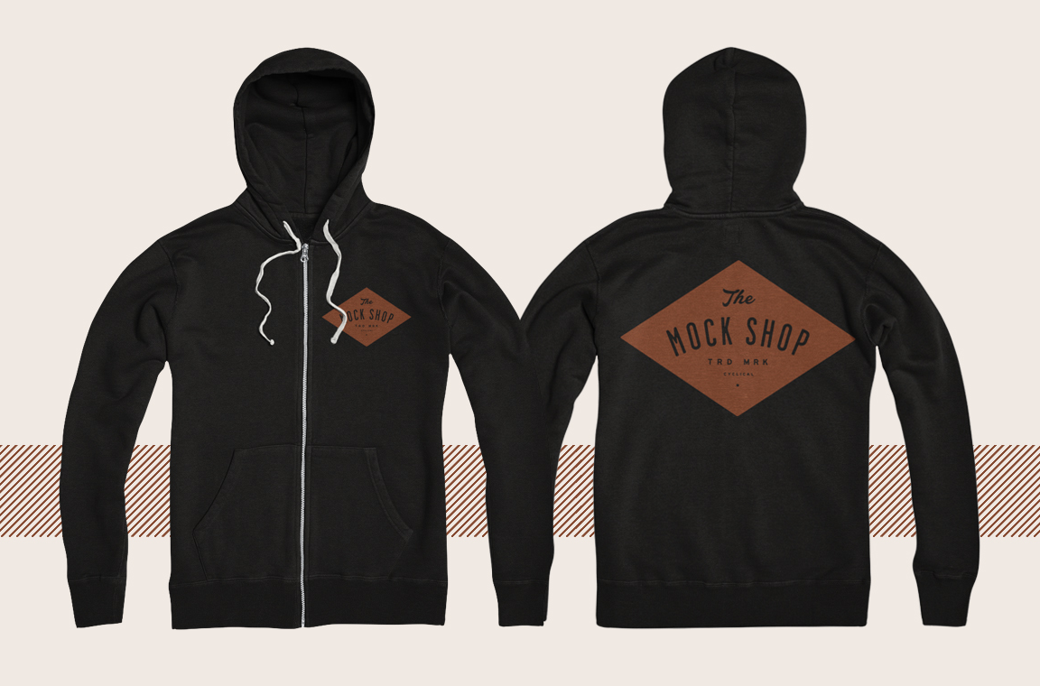 Template hoodie template and shirt design template photoshop - Zipup Hoodie Mockup