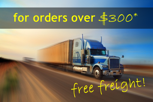 NEW! Free freight for  orders over $300!