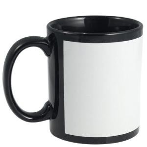 Ceramic Mugs - Coloured With White Panel Insert