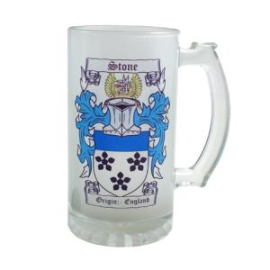 Frosted Glass Beer Stein - 16oz