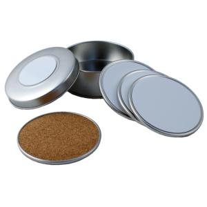 Bar Coasters - Metal Set (4) incl. Printable Metal Inserts